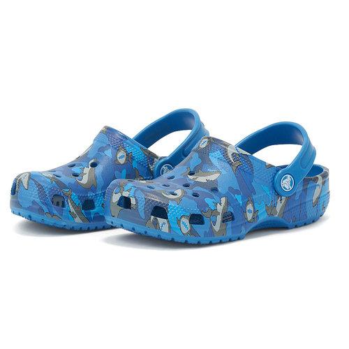 Crocs Classic Shark Clog PS - Σαγιονάρες - PREP BLUE