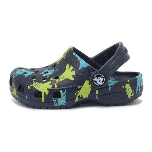 Crocs Classic Monster Print - Σαγιονάρες - NAVY
