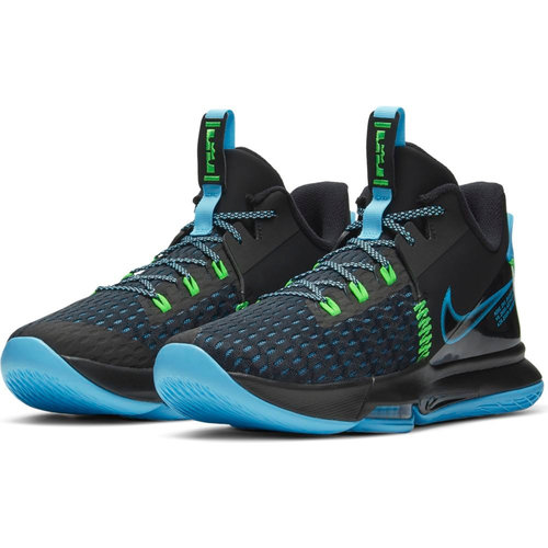 Nike Lebron Witness V - Αθλητικά - BLACK/LAGOON PULSE