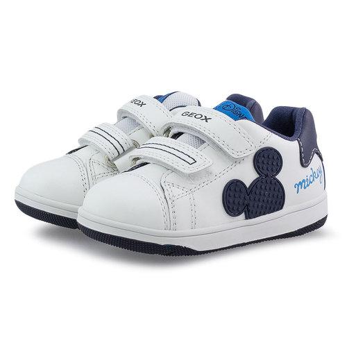 Geox B N.Flick - Sneakers - WHITE/NAVY