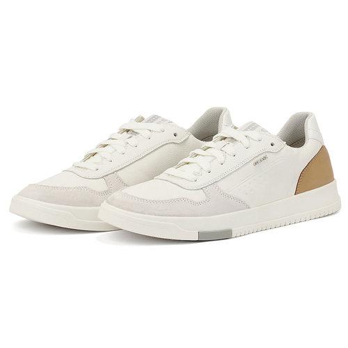 Geox U Segnale - Sneakers - WHITE/COGNAC