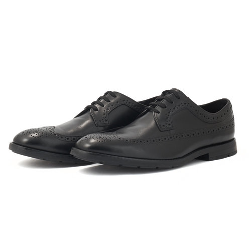 Clarks Ronnie Limit Black - Brogues & Loafers - BLACK