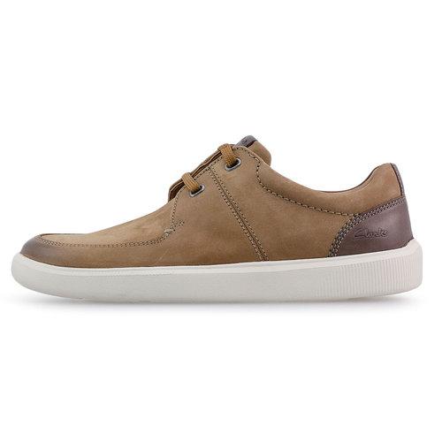 Clarks Cambro Lace Tan Nubuck - Sneakers - TAN