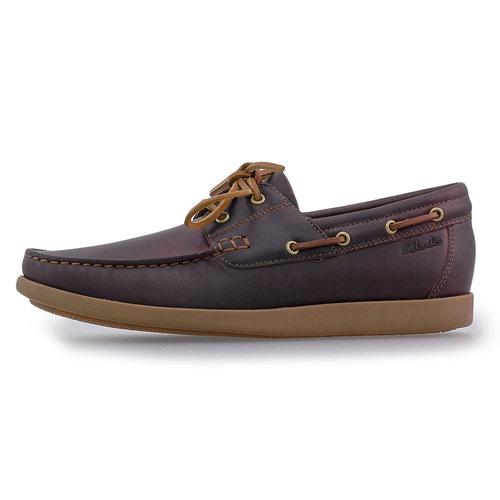 Clarks Ferius Coast Dark Tan - Brogues & Loafers - DARK TAN