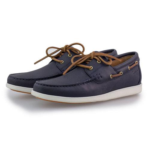 Clarks Ferius Coast Dark Blue - Brogues & Loafers - DARK BLUE