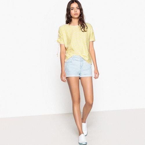 Μπλούζα με δέσιμο στα μανίκια - Μπλούζες & Πουκάμισα - ΚΙΤΡΙΝΟ ΡΙΓΕ