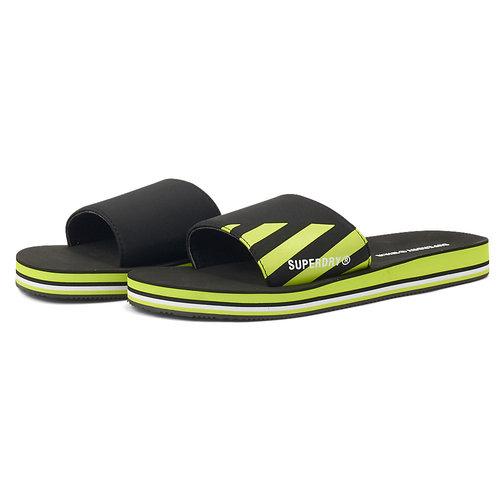 Swim Sport Slide - Σαγιονάρες - BLACK/LIME