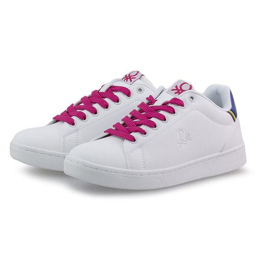 Benetton Penn Crack - Sneakers - WHITE/FUCSIA