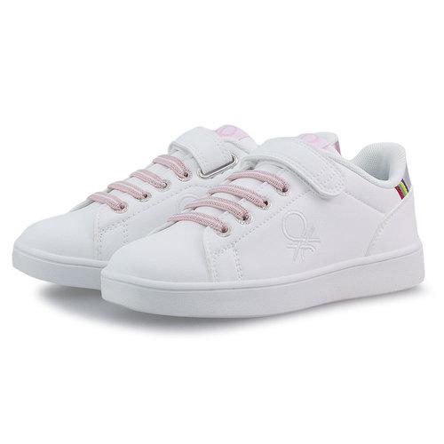 Benetton Penn Crack - Sneakers - WHITE/ROSE