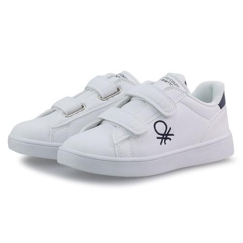 Benetton Label Ltx - Sneakers - WHITE/NAVY