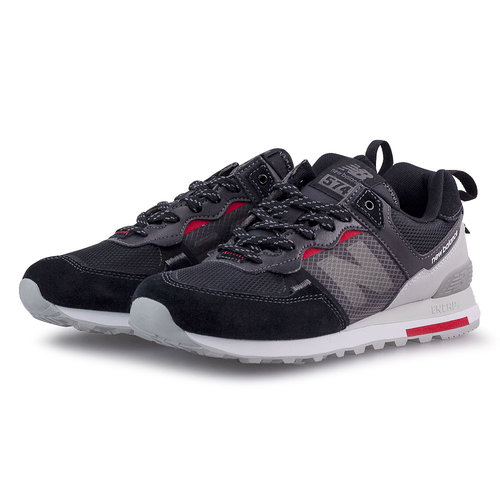 New Balance 574 - Sneakers - BLACK/RED