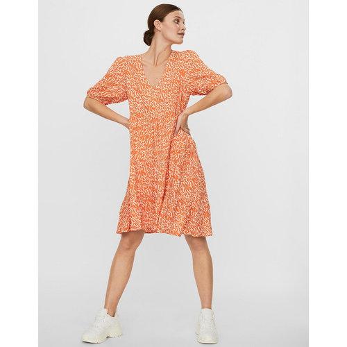 Κοντό εβαζέ φόρεμα με V - Φορέματα - ΠΟΡΤΟΚΑΛΙ