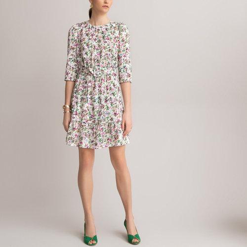 Κοντό εμπριμέ φόρεμα - Φορέματα - ΦΛΟΡΑΛ ΤΥΠΩΜΑ