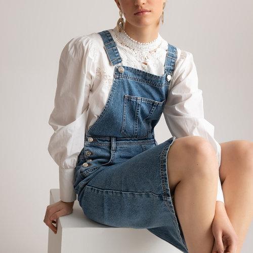 Ντένιμ φόρεμα-σαλοπέτα - Φορέματα - ΜΗ ΕΠΕΞΕΡΓΑΣΜΕΝΟ ΜΠΛΕ