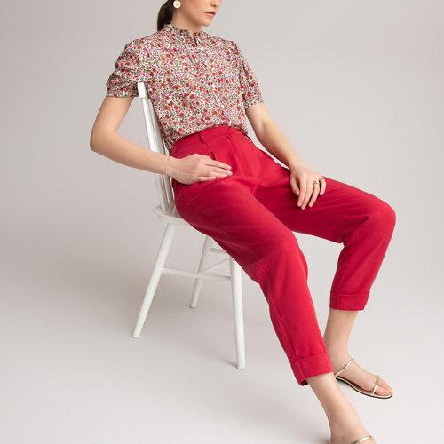 Ίσιο παντελόνι με πένσες - ΓΥΝΑΙΚΑ - ΚΟΚΚΙΝΟ