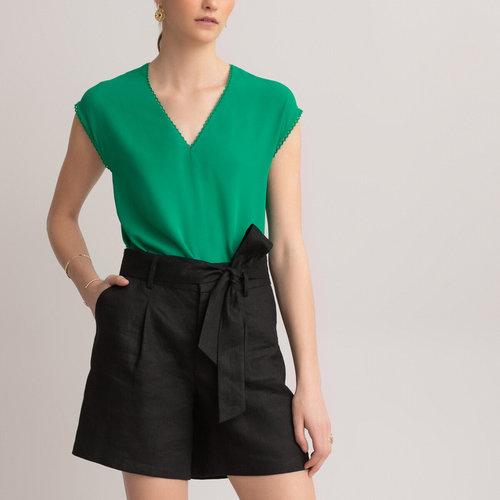 Αμάνικη μπλούζα με V - Μπλούζες & Πουκάμισα - ΠΡΑΣΙΝΟ