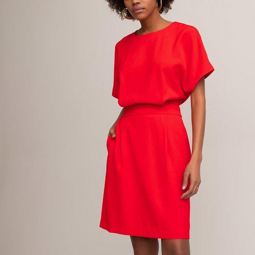 Κοντομάνικο εβαζέ φόρεμα - Φορέματα - ΚΟΚΚΙΝΟ