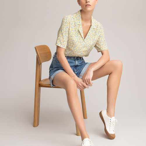 Κοντομάνικο πουκάμισο - Μπλούζες & Πουκάμισα - YELLOW PRINT/BLUE