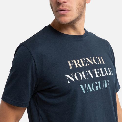 Κοντομάνικο T-shirt - Μπλούζες & Πουκάμισα - ΣΚΟΥΡΟ ΜΠΛΕ
