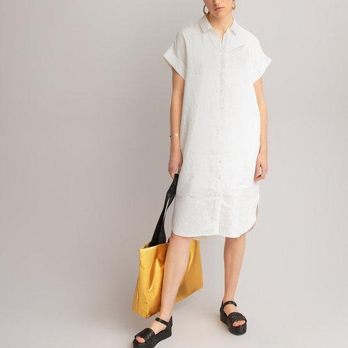 Κοντομάνικο φόρεμα από λινό - Φορέματα - ΙΒΟΥΑΡ