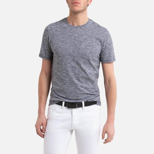 Κοντομάνικη ριγέ μπλούζα - Μπλούζες & Πουκάμισα - BLACK STRIPED/WHITE