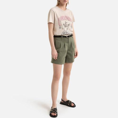 Κοντομάνικο T-shirt - Μπλούζες & Πουκάμισα - ΕΚΡΟΥ