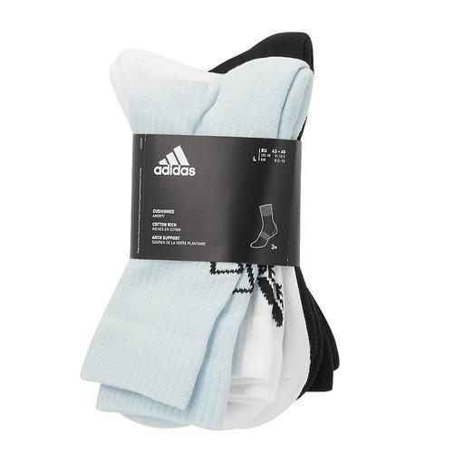 adidas BASK8BALL 3PP CREW SOCKS - Κάλτσες - HALO BLUE/WHITE