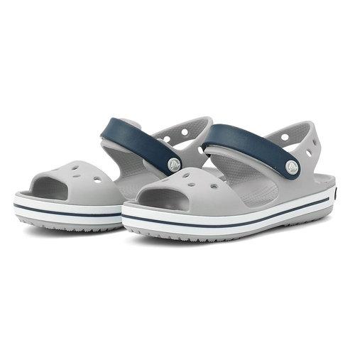 Crocband Sandal Kids - Πέδιλα - LIGHT GREY/NAVY