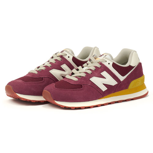 New Balance 574 - Sneakers - RED/YELLOW