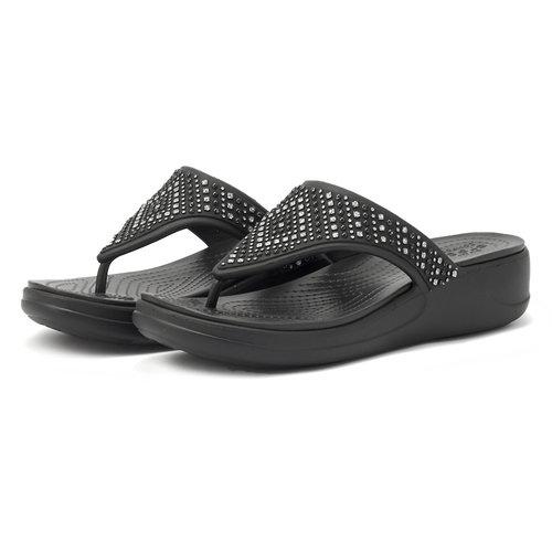 Crocs Monterey Shimmer WgFpW - Σαγιονάρες - BLACK