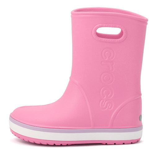 Crocs Crocband Rain Boot K - Γαλότσες - ΡΟΖ/ΜΟΒ