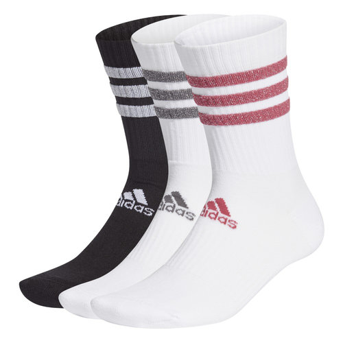 adidas 3S Glam Crw Wms - Κάλτσες - WHITE/BLACK