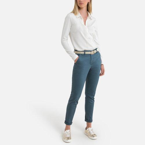 Ίσιο παντελόνι από στρετς σερζ - ΓΥΝΑΙΚΑ - ΓΚΡΙ ΜΠΛΕ
