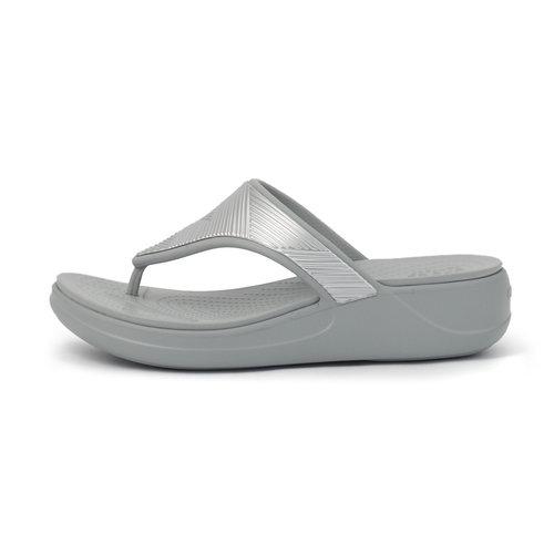 Crocs Monterey Metallic WgFp - Σαγιονάρες - SILVER