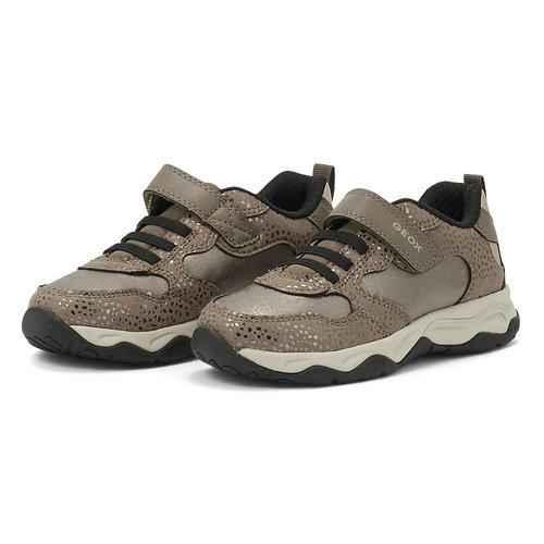 Geox J Calco G. A - Sneakers - SMOKE GREY/GOLD