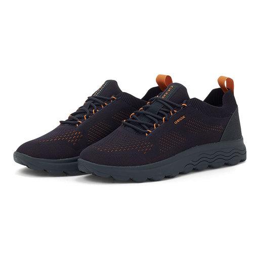 Geox U Spherica A - Sneakers - NAVY/ORANGE