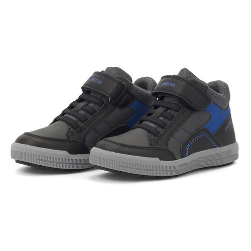 Geox J Arzach B. A - Sneakers - BLACK/ROYAL