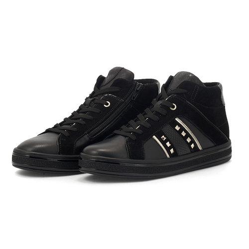 Geox D Leelu' B - Sneakers - BLACK
