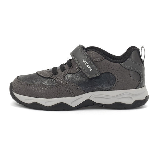 Geox J Calco G. A - Sneakers - DK GREY/SILVER