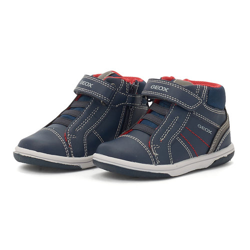 Geox B Flick B. A - Sneakers - NAVY/RED