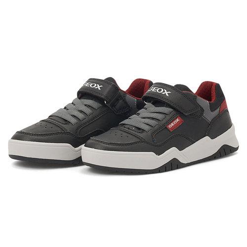 Geox J Perth B. B - Αθλητικά - BLACK/DK RED