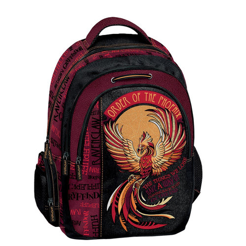 Graffiti Harry Potter - Σχολικές Τσάντες - ΚΟΚΚΙΝΟ/ΜΑΥΡΟ