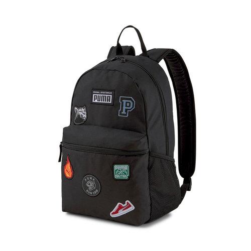 Puma Patch Backpack - Σχολικές Τσάντες - BLACK