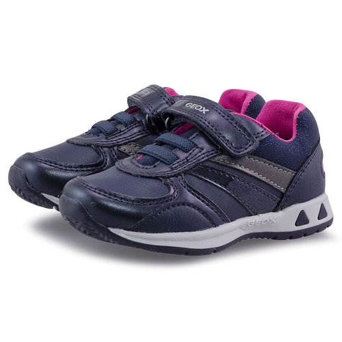 Geox B Pavlis G. A - Sneakers - NAVY/FUCHSIA
