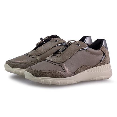 Geox D Alleniee C - Sneakers - DARK BEIGE