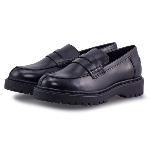 Geox D Bleyze B - Brogues & Loafers - BLACK