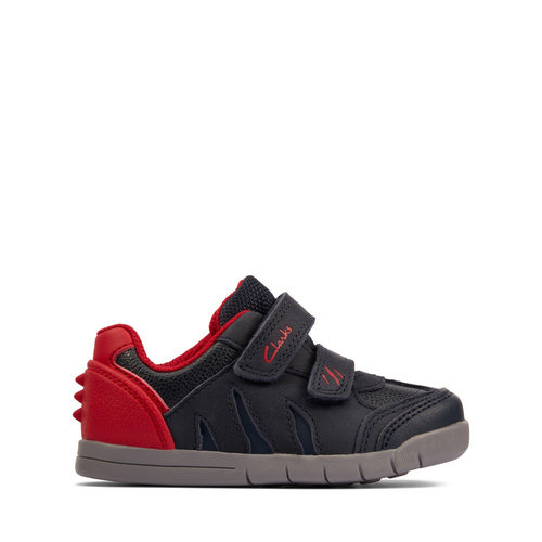 Clarks Rex Play T - Sneakers - NAVY/RED