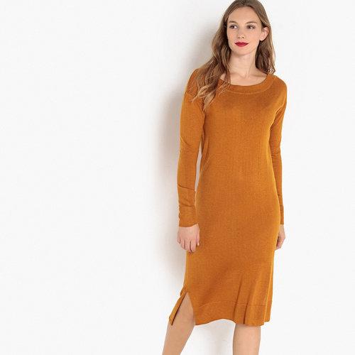Μακρυμάνικο μίντι φόρεμα - Φορέματα - ΚΑΡΑΜΕΛ