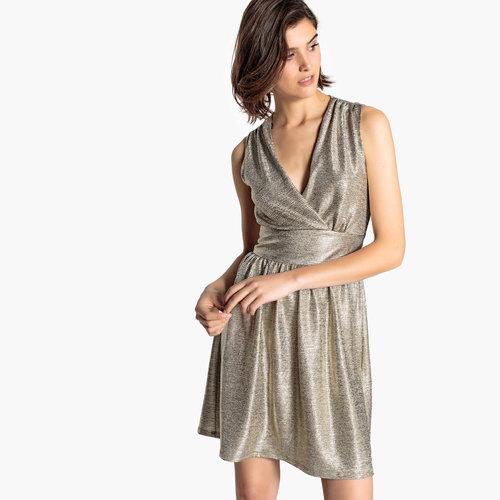 Αμάνικο Midi Φόρεμα - Φορέματα - ΧΡΥΣΟ ΜΠΕΖ