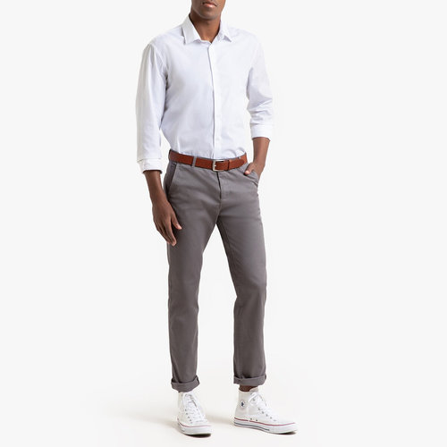 Παντελόνι chino σε ίσια γραμμή - Παντελόνια - ΓΚΡΙ